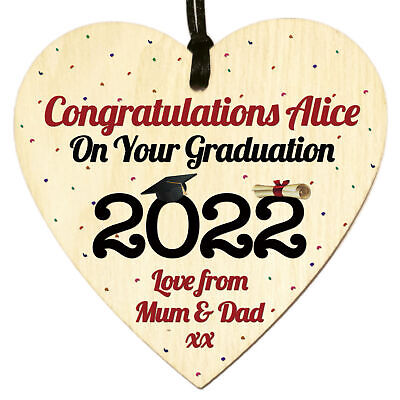£3.98 • Buy Personalised Congratulations On Your Graduation 2021 Gifts For Her Him Plaque