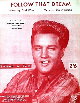 £9.99 • Buy Follow That Dream By Elvis Presley Rare Out Of Print Sheet Music 1962