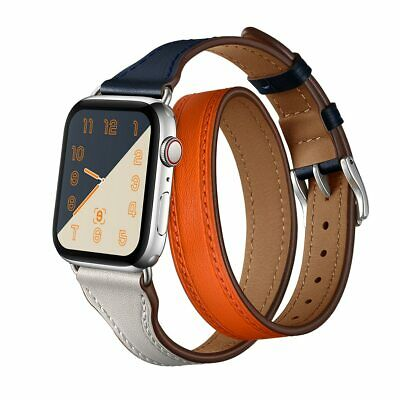 AU44.31 • Buy Leather Loop Strap For Apple Watch Band 44mm 38mm 42mm 40mm Double Tour