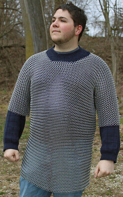 £47.59 • Buy Medieval Aluminium Chainmail Shirt Butted Roman Knight Chain Mail Armour XL Size