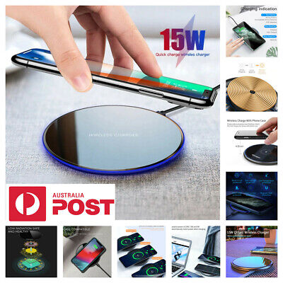 AU14.95 • Buy 15W Qi Wireless Charging Charger Pad For IPhone 12 11 Pro XR Samsung S20+ Ultra