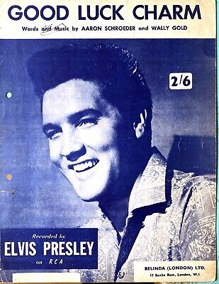 £4.99 • Buy Good Luck Charm By Elvis Presley Out Of Print Rare Sheet Music 1962