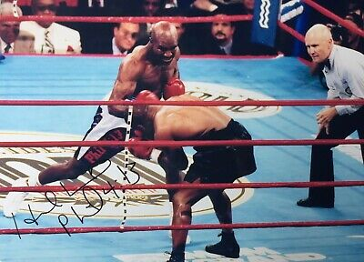 """£49.99 • Buy Rare Evander Holyfield Signed Photograph With Inscription """"pl 4:13 """""""
