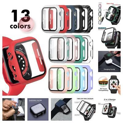 AU9.99 • Buy Apple Watch Series 6/SE/5/4/3/2/1 360* Full Cover Tempered Glass Case Cover