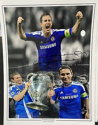 £125 • Buy Signed Frank Lampard Chelsea 16x12 Photo With Proof