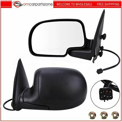 $66.95 • Buy Heated Power Side View Mirrors Left & Right Pair Set For Chevy GMC Truck Black