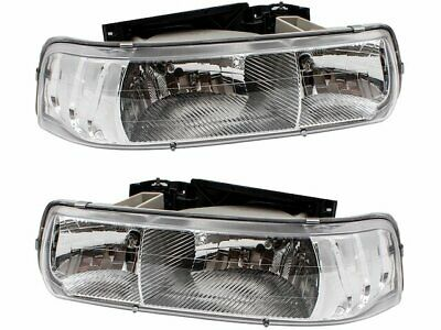 $124.01 • Buy Headlight Assembly Set For 2001-2002 Chevy Silverado 2500 HD Y544GN