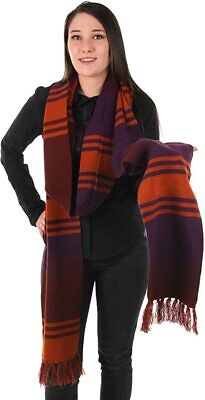 Official BBC Doctor Who Purple Fourth 4th 12' DELUXE Tom Baker Cosplay Scarf • 29.95£