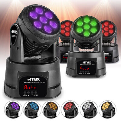 £279 • Buy MHL73 Wash Lights Moving Head Stage Lighting Colour Mixing 7X8W LED DMX Set Of 4