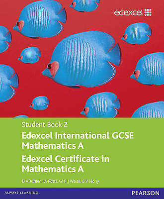 £5 • Buy Edexcel International GCSE Mathematics A Student Book 2 With ActiveBook CD By I.