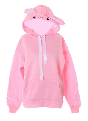 £18.97 • Buy TS-309-1 Pink Rabbit Embroidered Hood With Ears Sweatshirt Pullover Pastel Goth