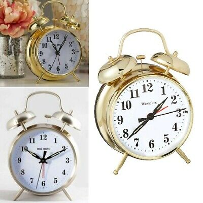 £9.99 • Buy NEW Big Ben OR Baby Ben Retro Style Bell Loud Alarm Clock (Battery Or Key Wound)