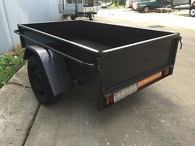 AU1089.50 • Buy Brand New Deep Side Box Trailer LED 7X4FT H Duty ALSO 7x5 8x4 8x5 9x5 AVAILABLE
