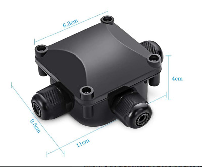 £7.99 • Buy 2 Pk 3 Way Outdoor Electrical Cable Wire Connector Waterproof Junction Box Case