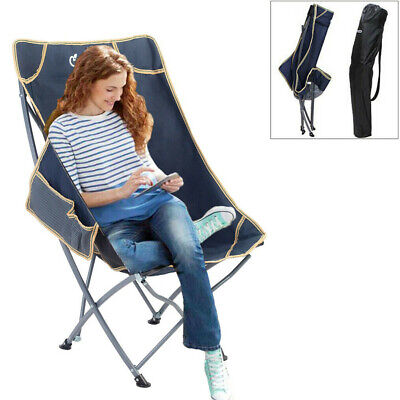 £32.92 • Buy Packable Camping Folding Moon Chair In Bag Fo Outdoor Fishing Camp Picnic Hiking
