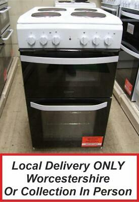 £249.99 • Buy Indesit ID5E92KMW White Electric Cooker Twin Cavity 50cm PEC NEW *MG*
