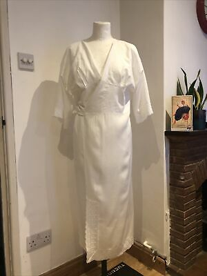 AU26.72 • Buy White Dressing Gown Night Dress Japanese