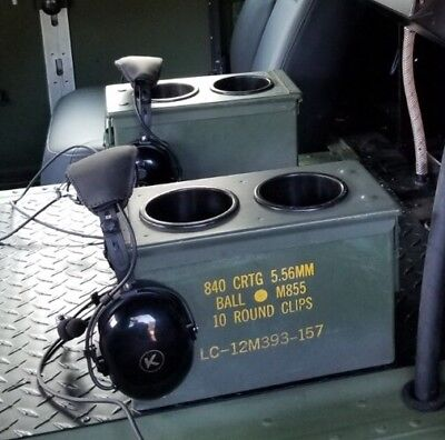 $59.95 • Buy 1 MILITARY HUMVEE CUP HOLDER (holds 2 Cups) CENTER CONSOLE  M998  1 AMMO CAN