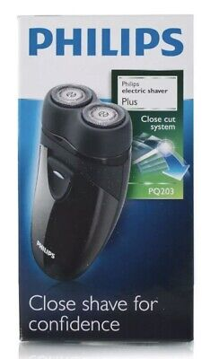 Philips PQ203 Cordless Battery Operated 2 Headed Travel Men's Shaver A • 22.90£