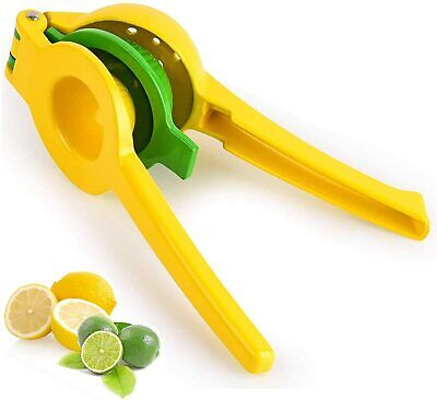 Metal Lemon Lime Squeezer Manual Citrus Press Juicer 2 In 1 Robust For Extractin • 8.98£