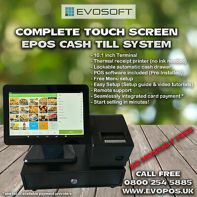 £279.99 • Buy Complete Touch Screen POS EPOS Cash Till System - NO MONTHLY FEES