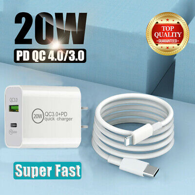 $ CDN18.73 • Buy For IPhone 12 Pro/11/ Ipad Fast Charger 20W PD Power Adapter Type-C USB QC 3.0