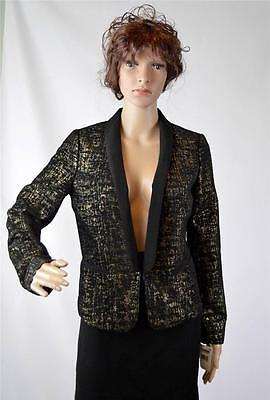$29 • Buy New Made Fashion Week For Impulse Women's Black/Gold Lined Jacket  Size M $109