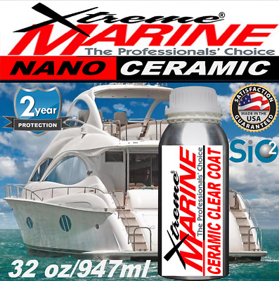 $295.95 • Buy Boat Marine Rv Wax Si02 Ceramic Clear Coating Salt Gel Coat Stainless Protection