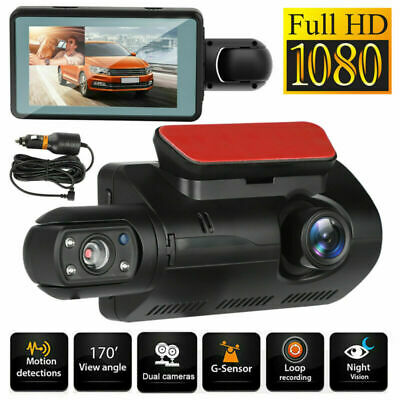 AU49.99 • Buy HD 1080P Dual Lens Car DVR Vehicle Video G-Sensor Dash Cam Recorder Camera