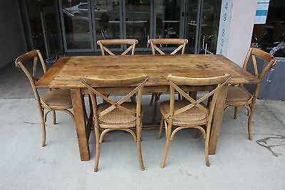 AU1999 • Buy Solid Oak Shanghai Dining Set (table/ 6 Chairs) Best Price & Quality