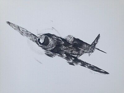 £20 • Buy Original Signed Ink Sketch Painting Of A Spitfires A3 Approx.