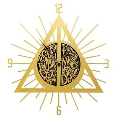 £26.90 • Buy Harry Potter ~ Deathly Hallows Wall Clock By Accutime