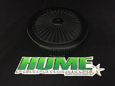 AU99.95 • Buy Hi Flow 9  X 2  Air Cleaner Filter Assembly Holley 4150 All Black 45729