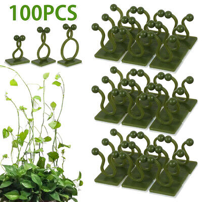 £6.59 • Buy 100PCS Wall Vines Fixing Clips Plant Climbing Holder Self-Adhesive Sticky Hook