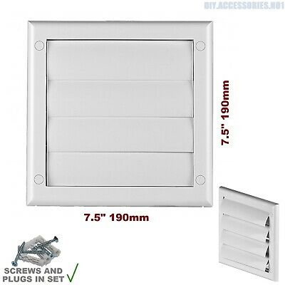 £3.99 • Buy Gravity Flaps 190 X 190mm Louvre Cover Air Vent Grill White Ventilation Grille