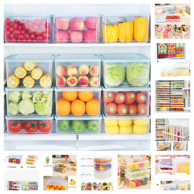 AU21.95 • Buy 5-8L Refrigerator Storage Box Food Container Kitchen Fridge Japanese Fresh-keep