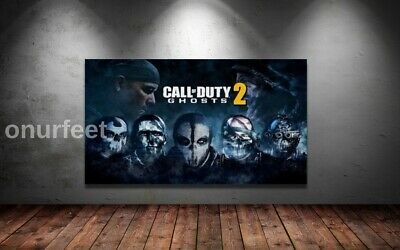 £19.99 • Buy CALL OF DUTY 2 GHOSTS COD GAMING GAME ART WALL ART 30x20 Inch Canvas UK