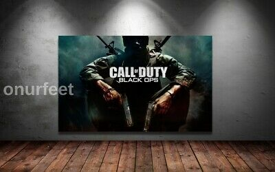 CALL OF DUTY BLACK OPS COD GAMING GAME ART WALL ART 30x20 Inch Canvas • 19.99£