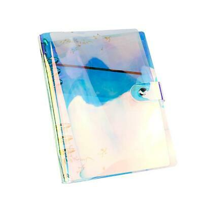 AU6.59 • Buy A5/A6/A7 Rainbow PVC Cover Loose Leaf Ring Binder File Button With Folder P6X1