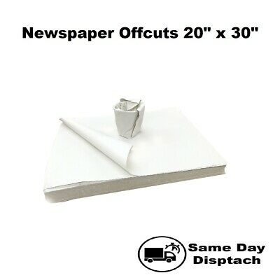 £7.45 • Buy White Newspaper Offcuts Food Chip Shop Paper Packing Wrapping Sheets 20 X30