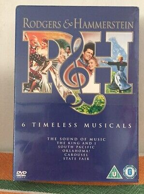 £5 • Buy Rodgers & Hammerstein 6 Timeless Musicals Dvd Boxset-new And Sealed.