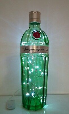 £14 • Buy  Tanqueray Up Cycled No Ten Bottle Light Filled With 40 White Leds