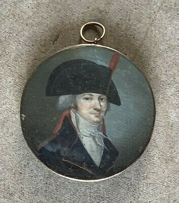 $475 • Buy Miniature Portrait Of A French Artillery Officer 1790's