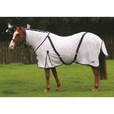 Masta Zing BRAND NEW Lightweight Mesh Fly Rug With Fixed Neck - White - 6'9  • 42.50£