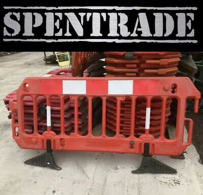 £17.50 • Buy Road Barrier 1 X Traffic Management Chapter 8 Pedestrian Plastic Safety Barriers