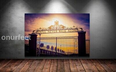 £20.99 • Buy LIVERPOOL ANFIELD YOU'LL NEVER WALK ALONE Wall SUNSET 30x20 Inch Framed Canvas