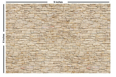 Self-adhesive Stone Paper Strips For HO Scale Model Railroads -5 Peel And Stick  • 7.09£