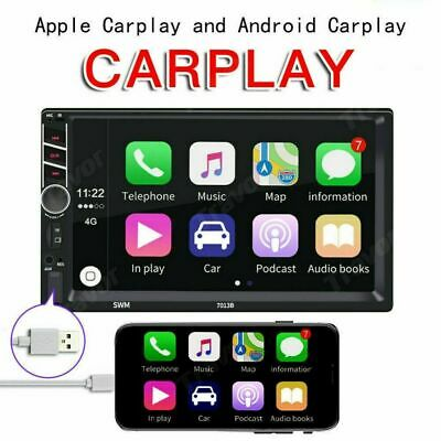 AU90.89 • Buy 7.0  Double 2Din Car Van Radio Stereo Car Play Touch USB SD For Apple Android AU