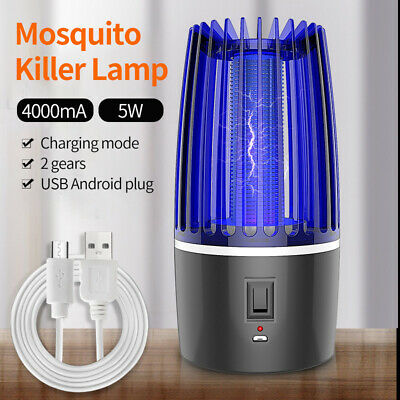 £10.29 • Buy Electric UV  Shock Mosquito Killer Lamp USB Portable Mosquito Repellent Fly Trap