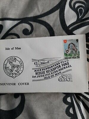 £0.99 • Buy Isle Of Man 1981 9p Laxey Wheel Stamp Souvenir Cover  MGP Helicopter Fund